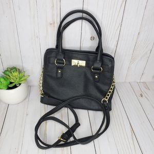 Target Black PU Leather Mini Satchel